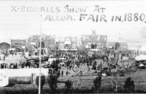 Biddall's Show Alloa, 1880